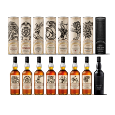 The Game of Thrones - Single Malt Scotch Whisky Collection, 8 x 70cl