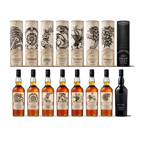 The Game of Thrones - Single Malt Scotch Whisky Collection, 8 x 70cl - slikforvoksne.dk