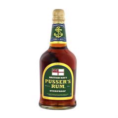 "Pusser's Navy Rum - Overproof ""Green Label"" Rum, 75%, 70cl"