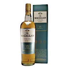The Macallan Fine Oak, 15 Years Old, Single Highland Malt Whisky, 43%, 70cl